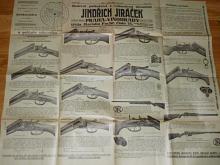 Jiráček Praha, moderní puškařství a velkozávod zbraněmi 1926 - prospekt - plakát