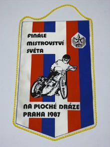 Finále mistrovství světa na ploché dráze Praha 1987 vlaječka