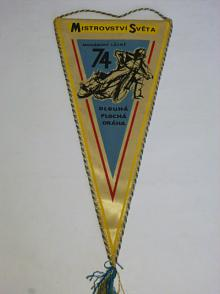 Mariánské Lázně 1974 Mistrovství světa - FIM - vlaječka