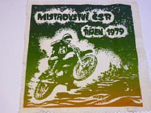Mistrovství ČSR říjen 1979 - motokros - tisk na látce
