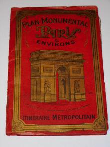 Plan monumental Paris a environs - mapa