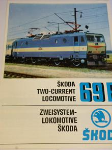 Škoda Plzeň - 69 E - elektrická lokomotiva - prospekt