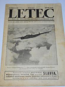 Letec 2/1938 - oficielní orgán Masarykovy letecké ligy