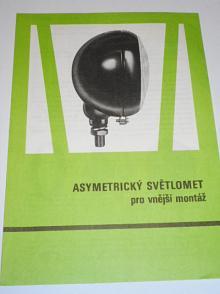 Autopal - asymetrický světlomet pro vnější montáž - prospekt