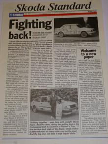 Skoda Standard - 1986 - Newspaper of Skoda G.B. časopis