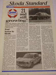 Skoda Standard - 1987 - Newspaper of Skoda G.B. časopis