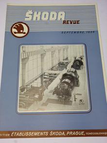 Škoda revue - septembre 1938 - parní turbina, generátor ...