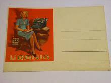 Urania - psací stroje - pohlednice - dopisnice