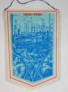 30 let Dne čs. železničářů - 1954 - 1984 - vlaječka