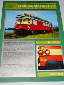 Vagónka Studénka - dvounápravový motorový vůz M 153.0 - prospekt