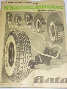 VII. Velká cena Masarykova - oficiální program - 1937