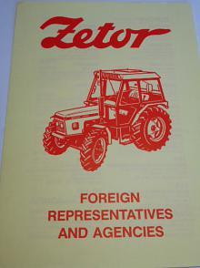 Zetor - Foreign representatives and agencis - leták