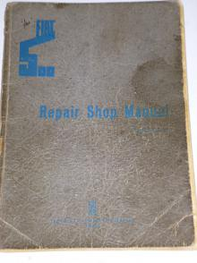 Fiat 500 - Topolino - Repair Shop Manual - 1939
