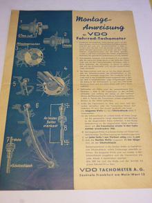Montage - Anweisung für VDO Fahrrad - Tachometer