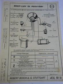 Bosch - Licht für Motorräder - 1932