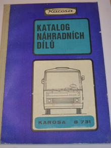 Karosa B 731 - katalog náhradních dílů autobusu - 1982