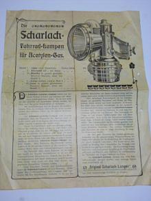Scharlach - Fahrrad Lampen für Acetylen Gas - prospekt