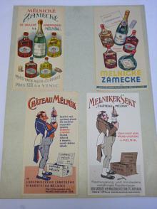 Mělnické zámecké - víno - Lobkowicz - reklamní účtenky