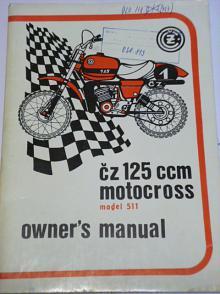 ČZ 125 model 511 motocross - owner´s manual - 1978