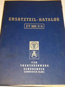 ZT 300, ZT 303, ZT 304 Ersatzteil-Katalog für die Traktoren - 1971