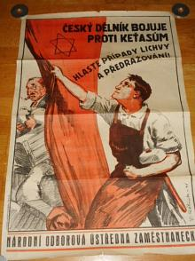 Český dělník bojuje proti keťasům - hlaste případy lichvy a předražování - plakát - 1941