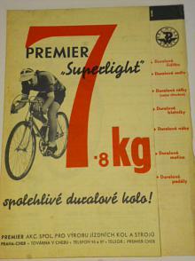 Premier Superlight - spolehlivé duralové kolo - prospekt