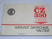ČZ 350 typ 472.3 - katalog náhradních dílů - 1977