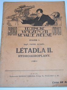 Létadla II. Hydroaeroplany - Pavel Beneš - 1915