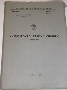 Vyprošťovací pásové vozidlo - technický popis - 1984
