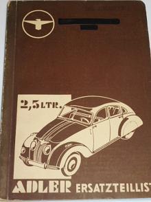 Adler 2,5 Ltr. Ersatzteilliste - 1941