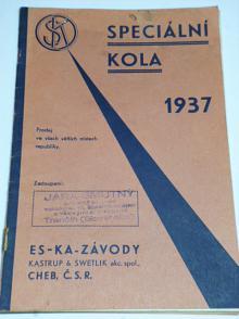 ES-KA - speciální kola 1937, motokolo Sachs 98 ccm, prospekt