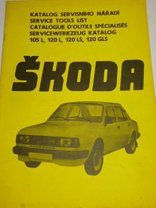 Škoda 105 L,120 L,120 LS,120 GLS - katalog servisného nářadí