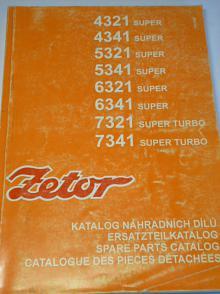Zetor - katalog náhradních dílů - 1997