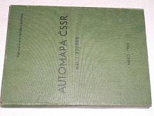 Automapa ČSSR - 1965 - výhradně pro služební potřebu
