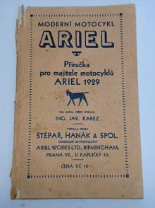 Ariel - příručka pro majitele motocyklů - 250, 500, 550 ccm