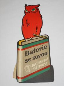 Baterie se sovou - dvojnásobná svítivost - papírová reklama