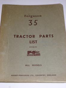 Ferguson 35 - Tractors Parts List - All Models