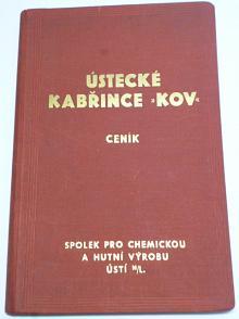 Ústecké kabřince KOV - ceník - 1933