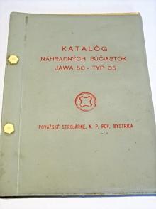 JAWA 50 typ 05 - 1965 - katalóg náhradných súčiastok