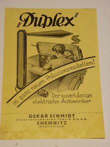 Duplex - Winker - Oskar Schmidt, Chemnitz - prospekt