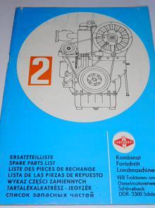 Dieselmotor 2 VD 14,5/12-1 SRL - Ersatzteilliste - 1980