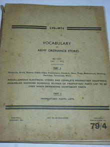 Vocabulary of army ordnance stores - 1944