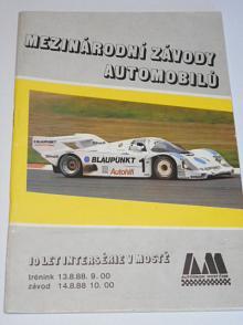 Most - mezinárodní závody a mistrovství ČSSR automobilů - 12. - 14. 8. 1988 - program