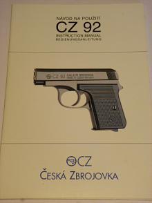 CZ 92 - návod na použití - 2000