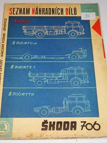 Škoda 706 RT - seznam náhradních dílů - 1962