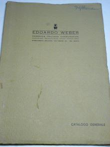 Edoardo Weber - Catalogo Generale - Hauptkatalog - 1958