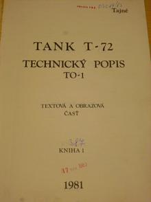 Tank T-72 technický popis - textová a obrazová část - 1981