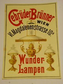 Gebrüder Brünner Wien - Wunder - Lampen - reklama