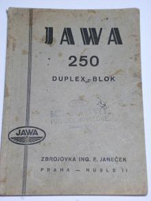 JAWA 250 Duplex-Blok - příručka pro jezdce na motocyklu