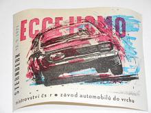 Ecce homo Šternberk - 12. 9. 1971 - nálepka
